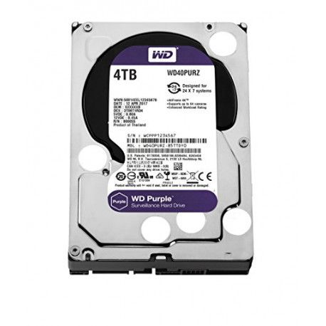 WD HDD 4TB SATA3 64MB Purple