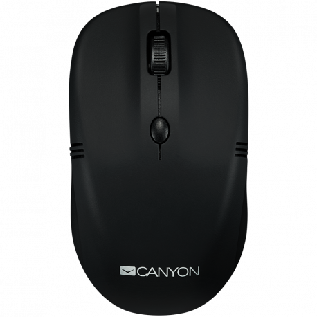 CANYON 2.4GHz wireless optical Mouse with 4 buttons DPI 800/1200/1600 rubber coating black 115*50*38mm 0.06kg