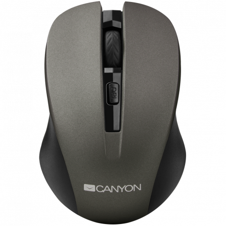 CANYON 2.4GHz wireless optical mouse with 4 buttons DPI 800/1200/1600 Gray 103.5*69.5*35mm 0.06kg