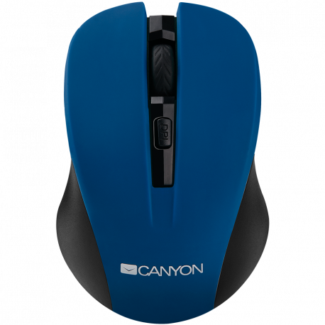 CANYON 2.4GHz wireless optical mouse with 4 buttons DPI 800/1200/1600 Blue 103.5*69.5*35mm 0.06kg