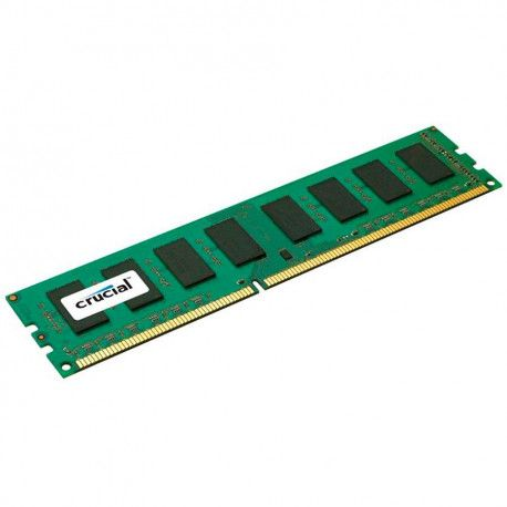Crucial RAM 4GB DDR3 1866 MT/s (PC3-14900) CL13 Unbuffered ECC UDIMM 240pin 4Gb based