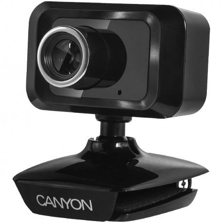 CANYON Enhanced 1.3 Megapixels resolution webcam with USB2.0 connector cable length 1.25m Black 49.9x46.5x55.4mm 0.065kg