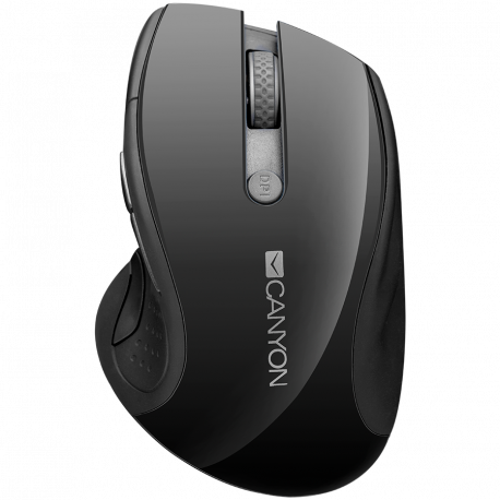 CANYON 2.4Ghz wireless mouse optical tracking - blue LED 6 buttons DPI 1000/1200/1600 Black pearl