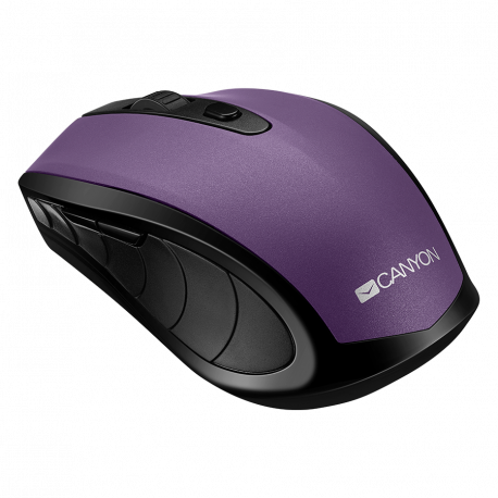 2 in 1 Wireless mouse Optical 800/1200/1600 DPI 6 button 2 mode(BT/ 2.4GHz) violet