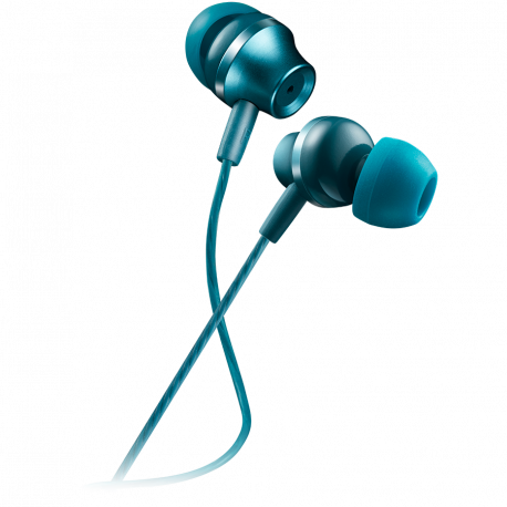 CANYON Stereo earphones with microphone metallic shell 1.2M blue-green