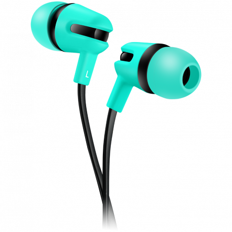 CANYON Stereo earphone with microphone 1.2m flat cable Green 22*12*12mm 0.013kg