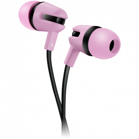 CANYON Stereo earphone with microphone 1.2m flat cable Pink 22*12*12mm 0.013kg