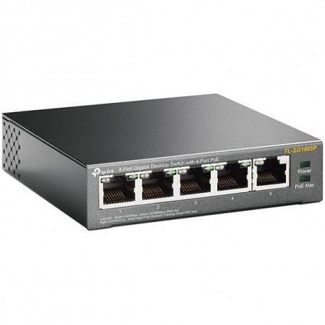Switch TP-Link 5-Port Gigabit Desktop Switch with 4-Port PoE 5 Gigabit RJ45 ports including 4