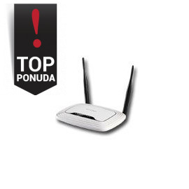 Router TP-Link TL-WR841N 24GHz Wireless N 300Mbps 4 x 10/100Mbps LAN Ports 1 x 10/100Mbps
