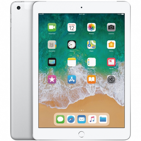 Apple 9.7-inch iPad 6 Cellular 128GB Silver (Retina Display LED‑backlit Multi‑Touch display 2048by-1536 resolution at