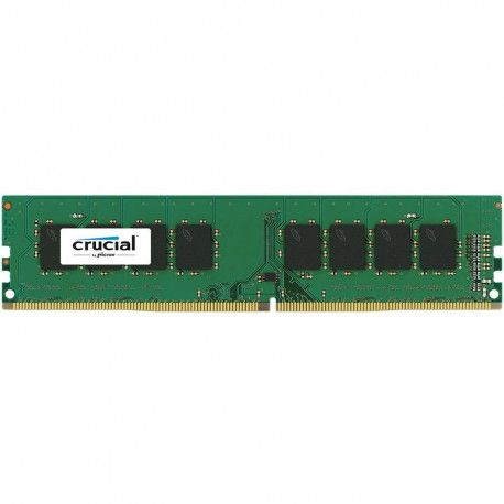 Crucial DRAM 8GB DDR4 2400 MT/s (PC4-19200) CL17 SR x8 Unbuffered DIMM 288pin Single Ranked