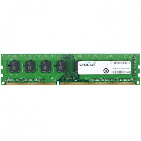 Crucial RAM 8GB DDR3L 1600 MT/s (PC3L-12800) CL11 Unbuffered UDIMM 240pin 1.35V/1.5V