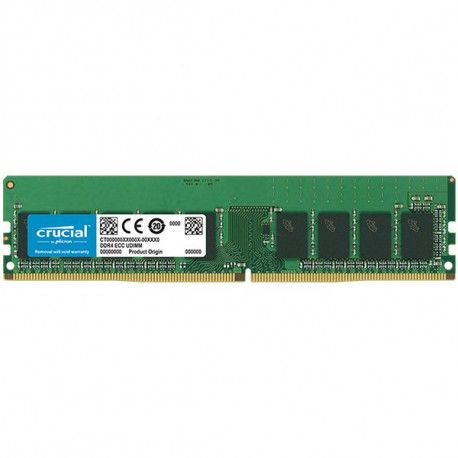 Crucial DRAM 16GB DDR4  2666MT/s (PC4-21300) CL19 DR x8 ECC Unbuffered DIMM 288pin EAN: