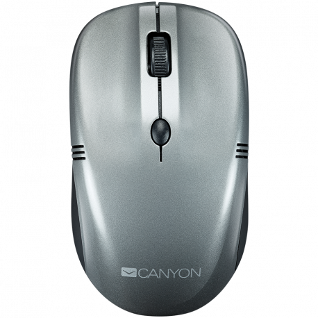 CANYON 2.4GHz wireless optical Mouse with 4 buttons DPI 800/1200/1600 dark gray pearl glossy 115*50*38mm