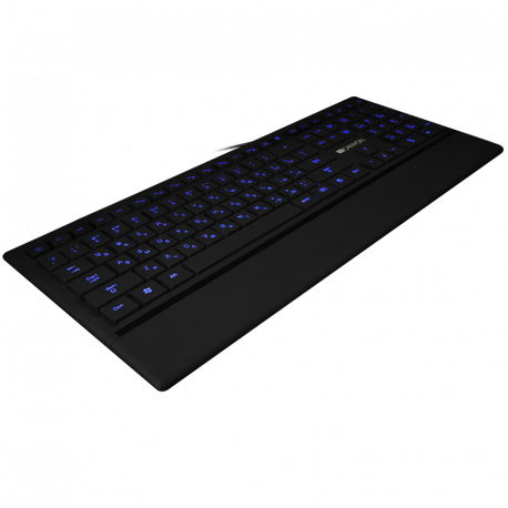 CANYON Keyboard CNS-HKB6 (Wired USB Slim with Multimedia functions LED backlight Rubberized surface) Adriatic layout