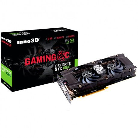 Inno3D Video Card GeForce GTX 1060 Gamming OC (1531Mhz/8Gbps) 6GB GDDR6 192-bit DP+DP+HDMI+DVI VC84 PG411