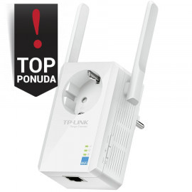 Repeater TP-Link TL-WA860RE 300Mbps Wireless N Wall Plugged Range Extender with AC Passthrough QCA(Atheros) 2T2R