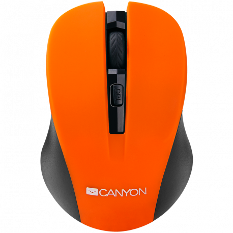 CANYON 2.4GHz wireless optical mouse with 4 buttons DPI 800/1200/1600 Orange 103.5*69.5*35mm 0.06kg