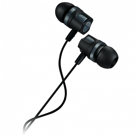 CANYON Stereo earphones with microphone 1.2M dark gray