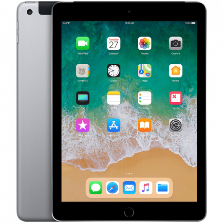 Apple 9.7-inch iPad 6 Cellular 128GB Space Gray (Retina Display LED‑backlit Multi‑Touch display 2048by-1536 resolution