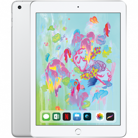 Apple 9.7-inch iPad 6 Wi-Fi 128GB Silver (Retina Display LED‑backlit Multi‑Touch display 2048by-1536 resolution at