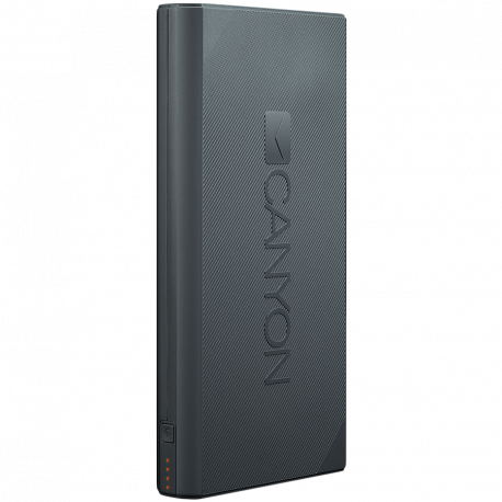 CANYON Power bank 16000mAh built-in Lithium-ion battery max output 5V2.4A input 5V2A Dark Gray Micro