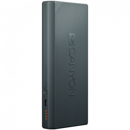 CANYON Power bank 10000mAh built-in Lithium-ion battery max output 5V2.4A input 5V2A. Dark Gray