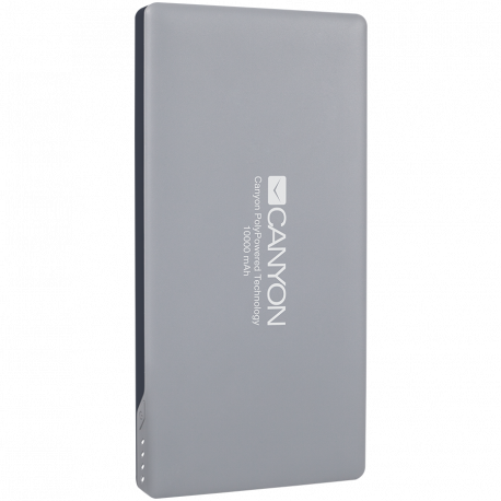 CANYON Power bank 10000mAh (Color: Dark Gray) bulit in Lithium Polymer Battery