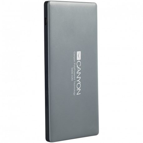 CANYON Power bank 5000mAh (Color: Dark Gray) bulit-in Lithium Polymer Battery