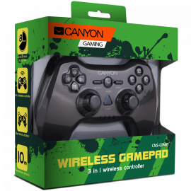 CANYON 3in1 wireless gamepad up to 8 hours of play time transmission distance up to