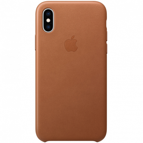 iPhone XS Leather Case - Saddle Brown Model