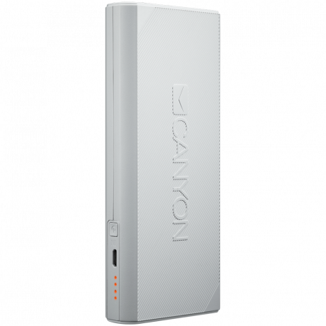 CANYON Power bank 13000mAh built-in Lithium-ion battery max output 5V2.4A input 5V2A. White