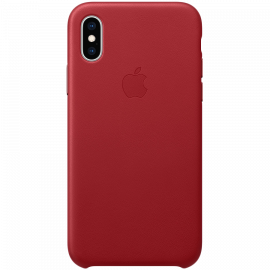 iPhone XS Leather Case - (PRODUCT)RED Model