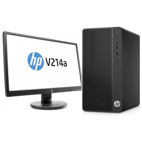 Računar HP Desktop Pro G2 MicroTower (5QL05EA) + Monitor HP V214