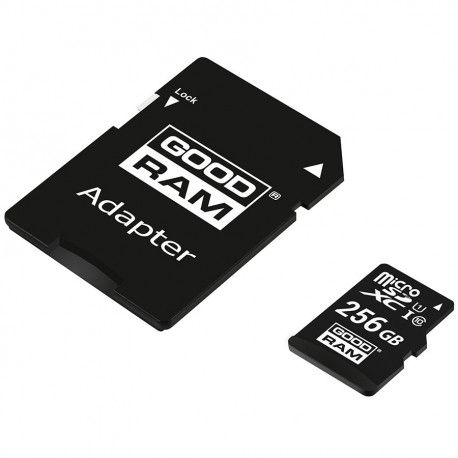 Goodram 256GB Micro SDHC Class 10 UHS-I + Adaptador SD
