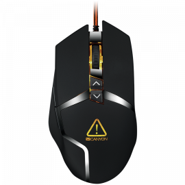 CANYON Wired gaming mouse programmable Sunplus 189E2 IC sensor DPI up to 4800 adjustable by