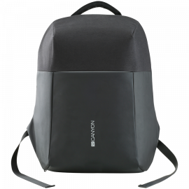 """Anti-theft backpack for 15.6""""-17"""" laptop material 900D glued polyester and 600D polyester black USB cable"""