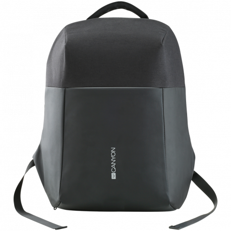 "Anti-theft backpack for 15.6""-17"" laptop material 900D glued polyester and 600D polyester black USB cable"