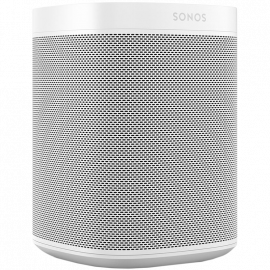Sonos ONE Speaker (Two Class-D digital amplifiers One tweeter One mid-woofer Adjustable bass and treble
