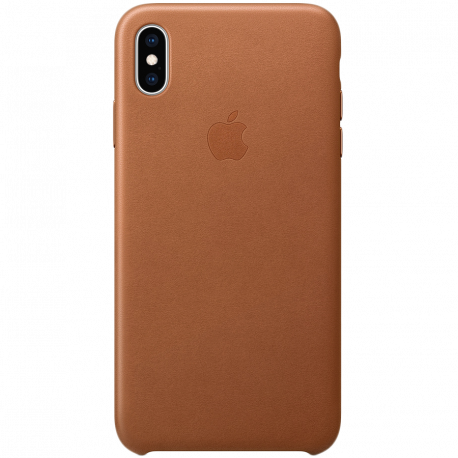 iPhone XS Max Leather Case - Saddle Brown Model