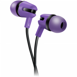 CANYON Stereo earphone with microphone 1.2m flat cable Purple 22*12*12mm 0.013kg