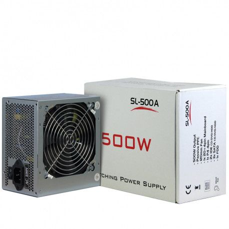 Power Supply INTER-TECH IT-SL500 AC 230V 50/60Hz DC 3.3/5/±12V 500W Retail Passive PFC 1x120