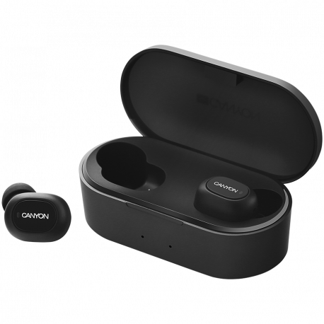 Canyon TWS Bluetooth sport headset with microphone BT V5.0 RTL8763BFR battery EarBud 43mAh*2+Charging Case 800mAh