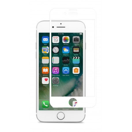 Moshi IonGlass (durable glass screen protector) for iPhone 7/8 - White