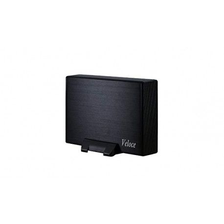 "Drive Cabinet INTER-TECH Veloce GD-35612 (USB 3.0 support 3.5"" SATA-II HDD Aluminium Black)"