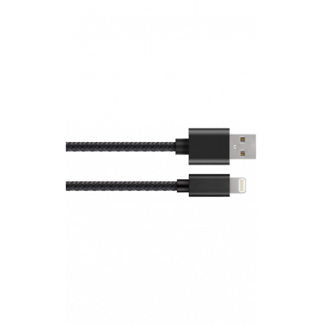 CANYON Charge & Sync MFI braided cable with metalic shell USB to lightning certified by