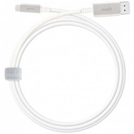 MOSHI USB-C to DisplayPort Cable 5 ft (1.5 m) outputs high-resolution video from any USB-C