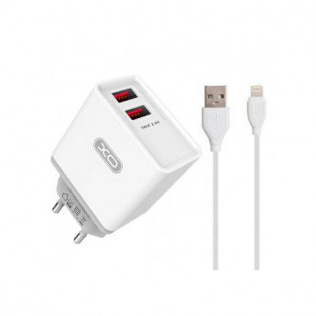 Punjač XO 2-port USB wall L35D 2.1A + Lightning cable