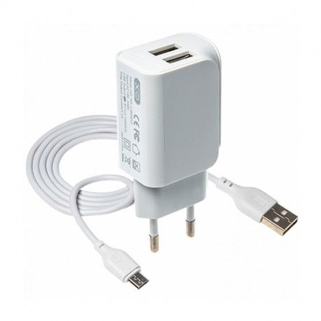 Punjač XO 2-port USB wall L35D 2.1A + Micro USB cable